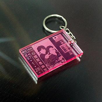 身分証鑰匙圈-透明壓克力